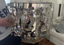 Crystal Pendant Lights (Two) For Sale