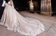 فستان عرس بحالة الوكالة للإيجار