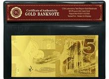 نقود طلاء بالذهب