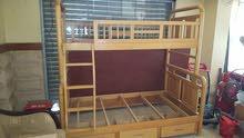 سرير دورين خشب ممتاز  فوق العرض 90سم وتحت 120