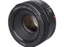مطلوب عدسة كانون Canon 50 mm STM