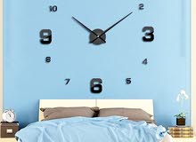ساعة الحائط الكبيرة اللاصقة ثلاثية الأبعاد ، شامل التوصيل للمنزل