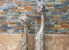 قطط خشبية راقية مصرية بحالة جيدة للبيع
