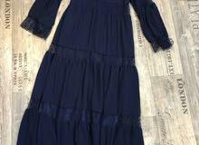 فستان غجري كلوشه خامه تركيه درجه اولى مبطن   القياس من 40 الى 50   الاسود قياس م