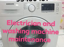 electric and plumber and washing machine maintenance work