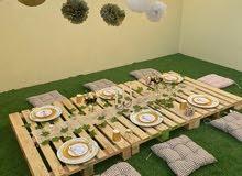 طبليات خشب ديكور مستعمل للبيع