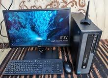 كمبيوتر مكتبي hp i5 مع شاشة كبيرة FHD وملحقاته
