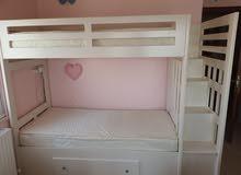 سرير طابقين صولد ود(solid wood) تفصيل