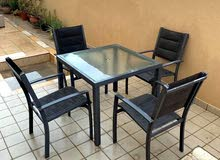 طاولة 4 كراسي للحديقة  نوعية جيدة بسعر جيد