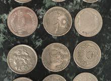 مجموعة نادرة من العملات المعدنية التذكارية المصرية