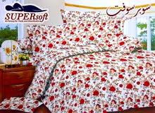 طقم ملاية سرير كبير واطفال على شكل ورود حمراء وكشميري ونود