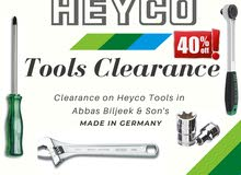 Sale! Heyco New Tools, screwdriver, ratchets