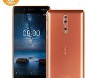 هاتف نوكيا 8 بحالة الوكالة للبيع