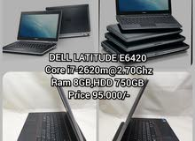 Dell latitude E6420,Core i7,Ram GB, Graphics NVIDIA 512MB
