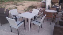 أثاث و ديكور مطاعم وكفي شوبات  جميع انواع الكرسي وطولات. رتان وخيزران.وتنجيد