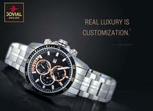 ساعة رجالية فخمة ماركة jovial صناعة سويسرية