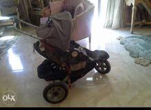 عربة أطفال وارد السعودية حجم كبير و عجلات عريضة تصلح للارصفة العاليه