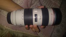 عدسه canon 70/200 mm f 2.8 الاصدار الأول دون مانع اهتزاز