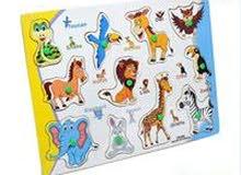 بازل كرتوني بأشكال متعددة للحيوانات وبألوان مختلفة وجذابة للاطفال
