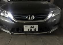 Honda accord 2014 fully loaded + رقم مميز رباعي