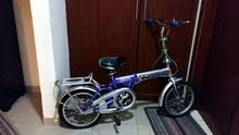 A children's bicycle, 2 wheels, for child 10 to 13 years old.