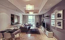 دبي البرشاء مول الامارات غرفتين وصالة مفروشة سوبر لوكس مع بلكونة- ايجار شهري