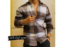 قميص شتائي رجالي خامة تركي بالوان وقياسات مختلفة