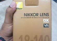 NIKON  LENS  18-140MM VR LENS  .LIKE  NEW  WETH  BOX