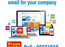 website and professional email for your company