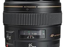 عدسة كانون 85mm canon lens