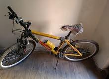 دراجة هوائية مقاس  26هيكل وطاوات ورقبة المنيوم بالكامل