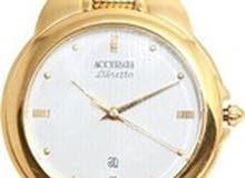 ساعة رجالي سويسريه ماركة اكيوريت accurate AMQ 708 اصليه ذهبيه