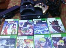 Xbox 360  معدل مع 8 اشرطة اصلية و 3 ايادي و الكينكت