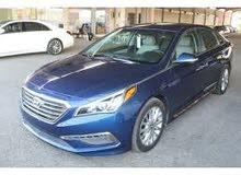 Blue Hyundai Sonata 2015 for rent