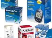 اجهزة وشرايح فحص السكر وأجهزة قياس ضغط الدم ماركة