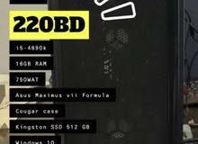 كمبيوتر مستخدم ونظيف i5-4690k 16GB RAM