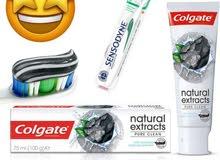 معجون أسنان الفحم مع نكهة النعناع لتبيض الفوري