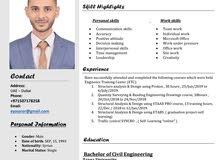 مهندس مدني حديث تخرج ،، civil engineer fresher