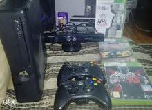Xbox 360 250GB دراعان اصليين و الجهاز والكاميرا و 3 العاب