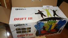 هوفر بورد مستعمل شبة الجديد بحالة جيدة ماركة genx موديل DRIFT III  اللون احمر مع