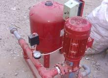خزان ومضخة وصندوق الحريق