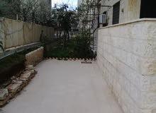 شقة أرضية مع حديقة فارغة للإيجار في خلدا