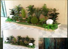 عشب جدارى وعشب صناعى من زهرة الريان,,لتنعم بالون الأخضر فى كل جوانب حديقتك - الرياض - السعودية