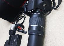 canon 600D Dslr  camra  weth 75-300mm zooming lens charger  and  bag