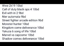 ps4 latest games slight use