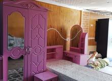 غرفت أطفال سرير عدد 2 وكرسي ومكتبه وخزانه