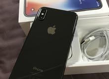 للبيع ايفون X اسود 64 شبة جديد