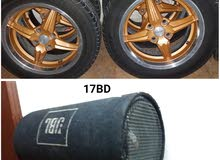 forsale car rims and subwoofer