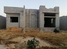 منزل علي التشطيب علي أرض مساحتها 900 متر بئر الاسطي ميلاد