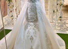 فستان عروسه لبس مره واحده تصميم والاستيل خاص vip